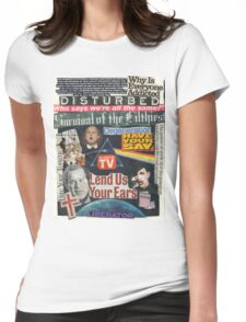 Portrait of an American Collage Womens Fitted T-Shirt