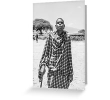 Masai warrior Greeting Card
