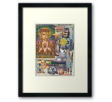 Rock Star Saint Framed Print