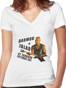 Darmok & Jalad at Tanagra (Light / Color version) Women's Fitted V-Neck T-Shirt