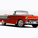 1955 Chevrolet Bel Air Convertible by DaveKoontz