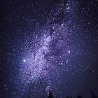 The Milky Way and the Aurora Borealis by KarenMcDonald