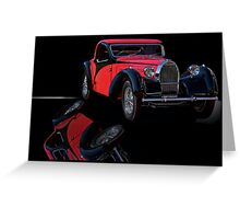 1937 Bugatti Type 57 Atalante Coupe I Greeting Card