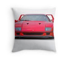 1987 Ferrari F40 II Throw Pillow