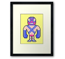 Pixel Luchador - Warrior Framed Print