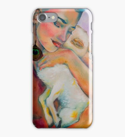 Serenity: The Woman with The Lamb - Detail iPhone Case/Skin