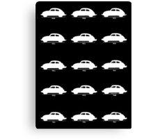 VW Bug History White Canvas Print