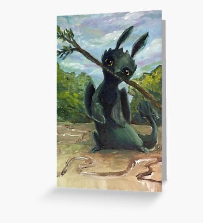Painty Toothless Greeting Card