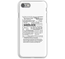 Sherlock Season 3 Quotes iPhone Case/Skin