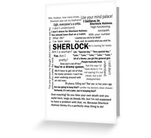 Sherlock Season 3 Quotes Greeting Card