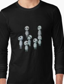 Princess Mononoke, Ghost (Kadama) Long Sleeve T-Shirt