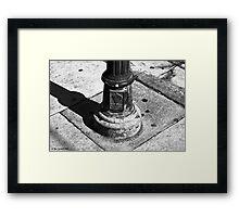 Lamppost base Framed Print