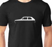 Silhouette Volkswagen VW Golf Mk1 White Unisex T-Shirt