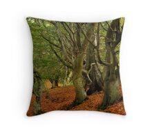Walking under old trees again Throw Pillow