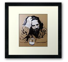 The Dude - The Big Lebowski Framed Print