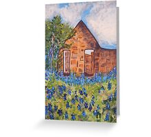 River Rock Cottage Bluebonnets Greeting Card