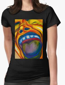 Screaming Man Womens Fitted T-Shirt