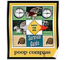 poop compass Poster