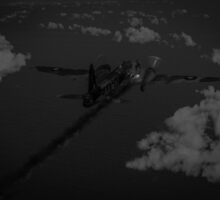 Above and beyond: Jimmy Ward VC black and white version by Gary Eason + Flight Artworks