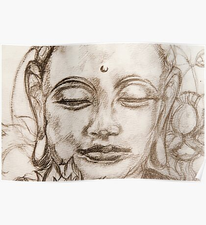 Lotus Sutra Sketch  Poster
