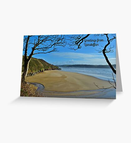 Scott's Bay, Llansteffan - Postcard or Greeting Card Greeting Card