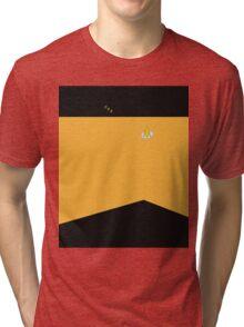 Sci-fi Xmas Shirt (Yellow) Tri-blend T-Shirt