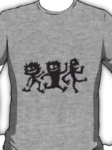 Party team crew 3 small funny cheeky Monster T-Shirt