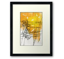 Don't Leave Me Hanging On A Telephone Framed Print