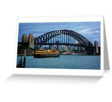 The Manly Ferry Cuts its way to Circular Quay Greeting Card