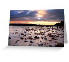 St Brelade Bay Sunrise Greeting Card