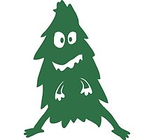 Funny Funny Christmas tree Monster by Style-O-Mat