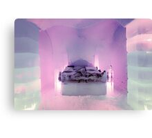 Honeymoon Suite, Sorrisniva Ice Hotel, Norway Canvas Print