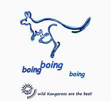 Boing boing boing kangaroo hopping blue Unisex T-Shirt