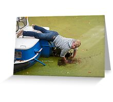 ..darn .. my cell phone  's in the water.. Greeting Card