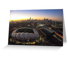 AAMI Park at sunset - Melbourne Australia Greeting Card