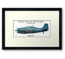Wake Island Defender Framed Print