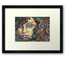Peacock Woman Framed Print