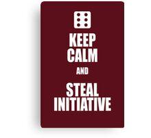 Steal Initiative  Canvas Print