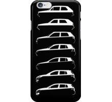 Silhouette Volkswagen VW Golf Mk1-Mk7 Left White iPhone Case/Skin