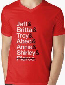 Community Character List Mens V-Neck T-Shirt