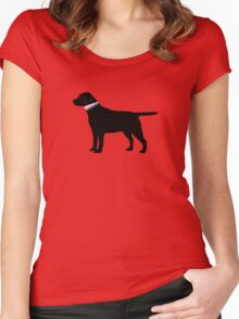 Black Lab Preppy Silhouette Women's Fitted Scoop T-Shirt