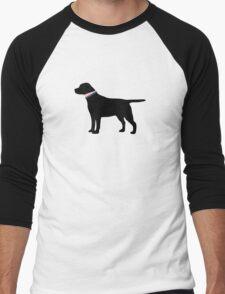 Black Lab Preppy Silhouette Men's Baseball ¾ T-Shirt
