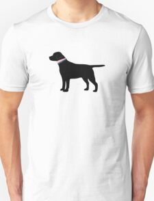 Black Lab Preppy Silhouette Unisex T-Shirt