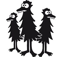 3 funny funny hairy bird Monster by Style-O-Mat