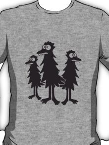 3 funny funny hairy bird Monster T-Shirt