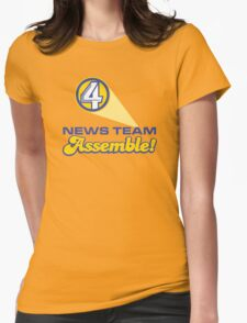 Channel 4 News Team Assemble! (ANCHORMAN) Womens Fitted T-Shirt