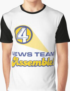 Channel 4 News Team Assemble! (ANCHORMAN) Graphic T-Shirt