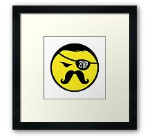 Mr Tash Poster. Framed Print