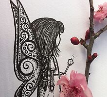 fairy near a flower by BeckaJane