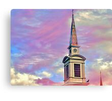 Touching the pink sky Canvas Print